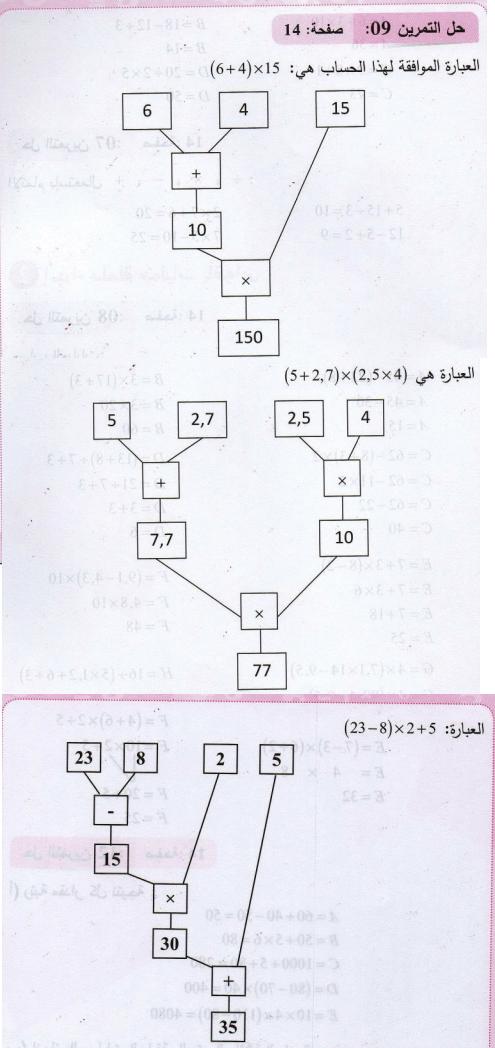 حل تمرين 9 صفحة 14 رياضيات 2 متوسط الجيل الثاني