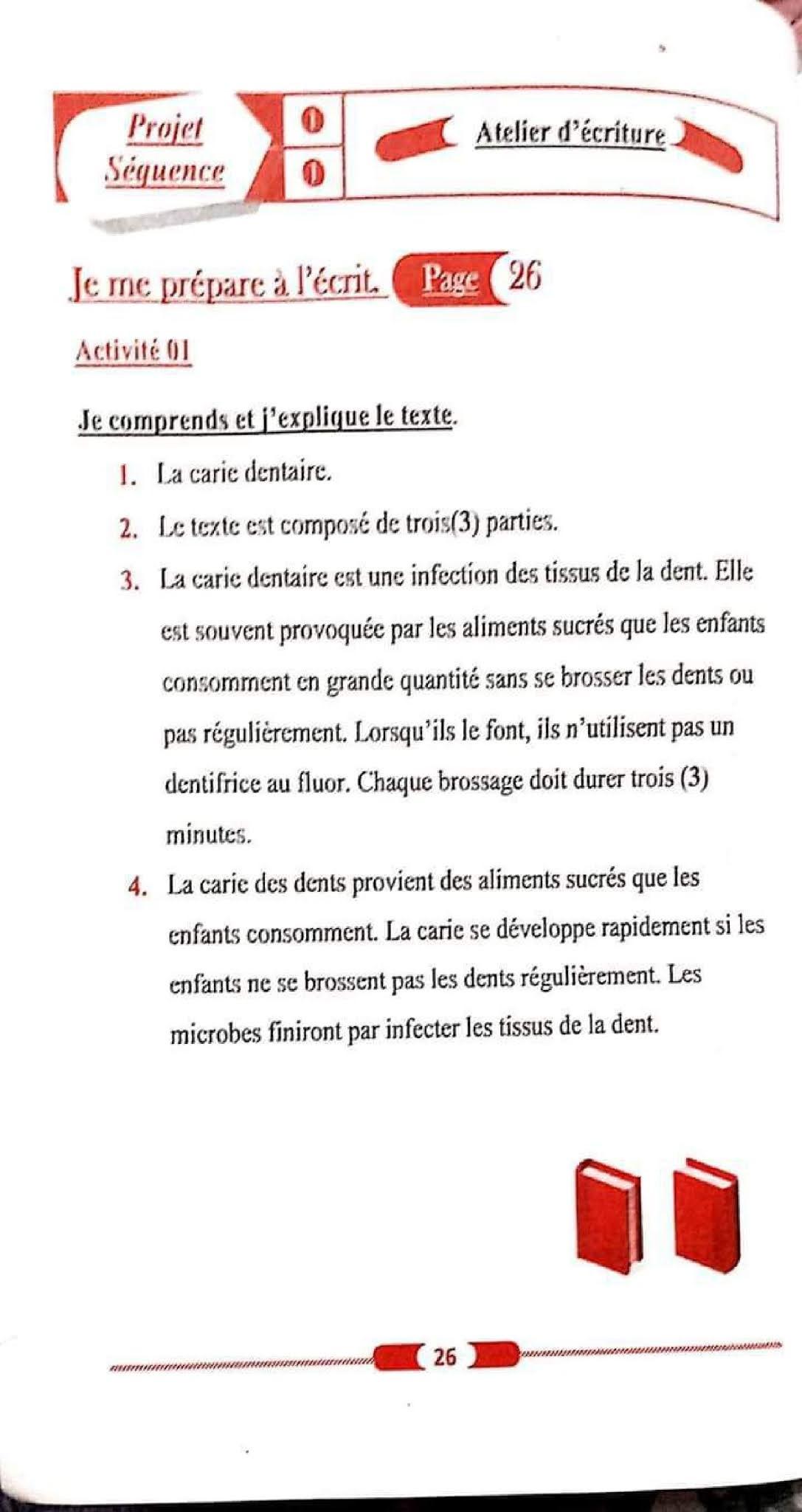 حل تمارين صفحة 26 الفرنسية 1 متوسط الجيل الثاني
